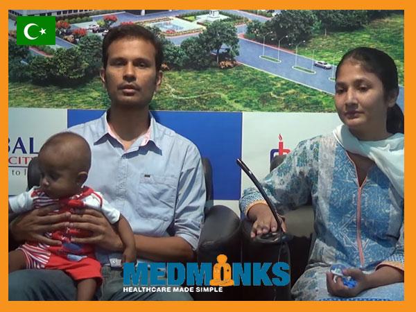 کودک 4 ماهه-از-پاکستان-تحت عمل-موفقیت آمیز-پیوند کبد-جراحی-در-هند