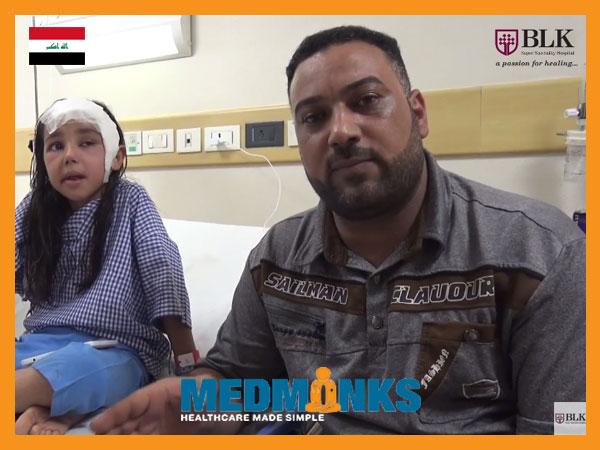 کودک-زهرا-تحت عمل جراحی-تومور-مغز در هند